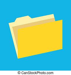 Vector Empty Folder Icon