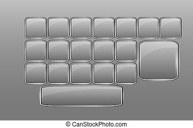 Vector empty glass keyboard