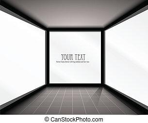 Vector Empty Interior with big windows