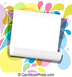 Vector Empty Paper Sheet on Retro Background