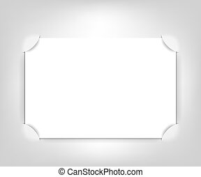 Vector empty photo frame; realistic cut, takes the...