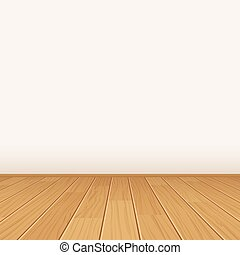 vector empty room with wall and wooden floor