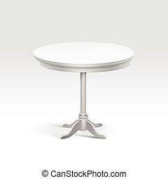 Vector Empty Round Table