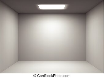 Vector empty white room