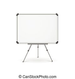 Vector empty whiteboard - Vector illustration. Empty ...