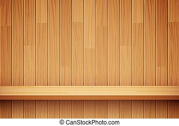 Vector Empty Wooden Shelf Background