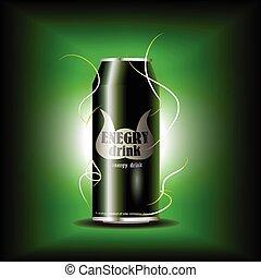 vector, energía, la bebida puede