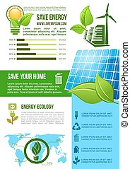 Vector energy and ecology environment infographics
