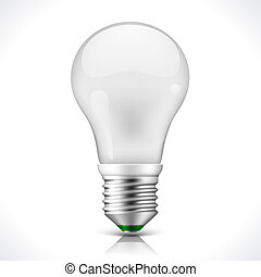 Vector Energy saving lamp Illustration isolated on white background