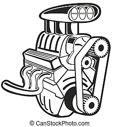 Vector Engine - Vector illustration of the engine. Clip art