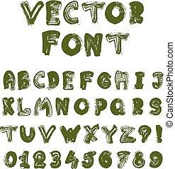Vector english alphabet