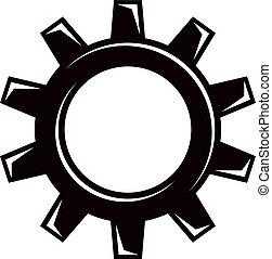 vector, engranaje, trabajando, concepto, industria, tema,...