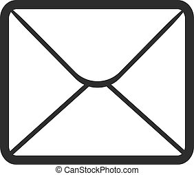 Vector Envelope Black Icon