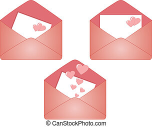 Vector envelope for Valentine\'s day