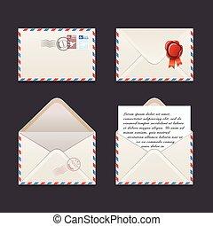 Vector envelope icon set