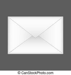 Vector envelope on gray background. Eps 10