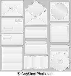 Vector Envelopes - Set of different paper envelopes, vector...
