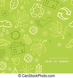 Vector environmental frame corner pattern background