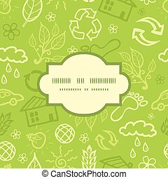 Vector environmental frame seamless pattern background