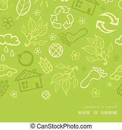 Vector environmental horizontal frame seamless pattern background