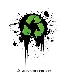 recycling icon grunge