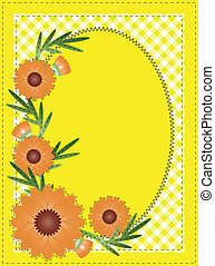 Vector Eps 10 Yellow Oval Copy Spac