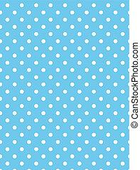 vector, eps, 8, blauwe , polka punten
