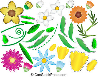 Vector Eps 8 Flowers & Leaves