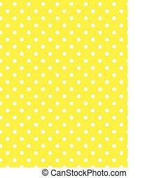 vector, eps, 8, gele, polka punten