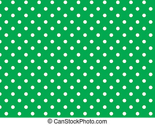Vector eps 8 Green Polka Dots