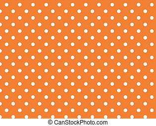 Vector eps 8 Orange Polka Dots