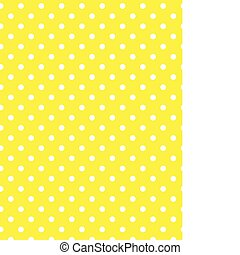 Vector eps 8 Yellow Polka Dots
