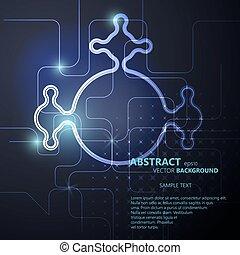 vector, eps10, abstract, neon, illustratie, achtergrond, circuit plank, technologie