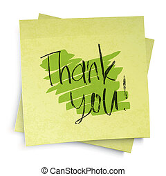 vector, eps10, danken, you!, illustratie