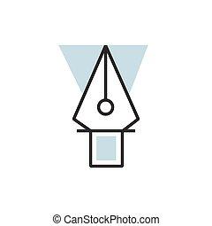 vector eps10 pen tool icon