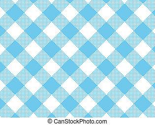 vector, eps8, blauwe , gingham, geweven