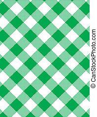 vector, eps8, gingham, groene, geweven
