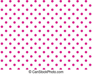 Vector Eps8 White Pink Polka Dots
