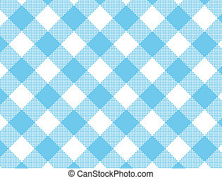 Vector eps8, Woven Blue Gingham
