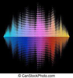 Vector Equalizer Effect - A rainbow-colored sound wave...