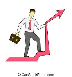 vector, equitación, ilustración negocio, hombre de negocios...