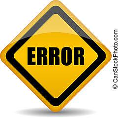 Vector error sign