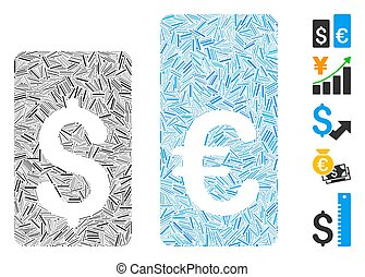 vector, escotilla, icono, mosaico, tasa, moneda, barras