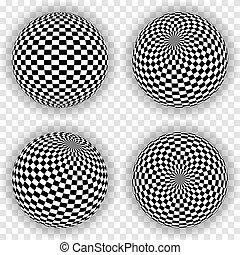 vector, esfera, fondo., cuadrados, eps10., resumen