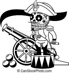 vector, esqueletos, ilustración