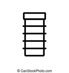 vector, estante, contorno, conveniente, icono, ilustración