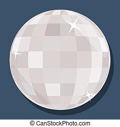 vector, estilo, 'flat', pelota, disco, plata