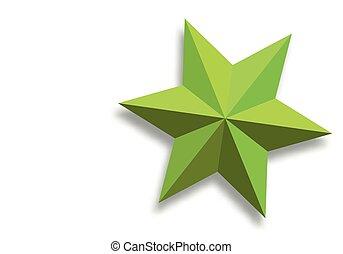 vector, estrella, papel