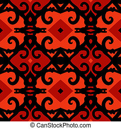 Vector ethnic pattern with stylized Kazakh motifs - Vector ...