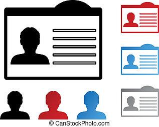 vector, etiquetadel nombre, para, identificación, -, humano,...